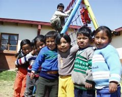 In der sicheren Obhut der Kindertagesstätte (Foto: F. Espinoza)