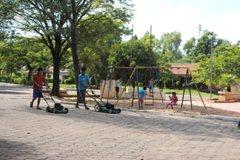 Beim Spielen im SOS-Kinderdorf Asunción