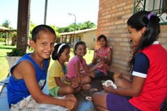 Kinder in unserer Obhut wachsen zusammen mit ihren Brüdern und Schwestern auf