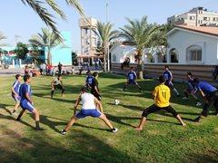 Vorbereitung auf das Fußballspiel.  (Foto: SOS-Archiv)