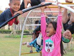 Kinder in unserer Obhut haben Spaß und wachsen zusammen mit ihren Brüdern und Schwestern auf (Foto: SOS-Archiv).