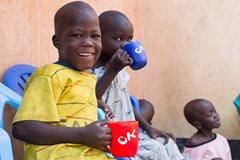 Im März 2014 wurden die Kinder vom SOS-Kinderdorf Malakal nach Juba in Sicherheit gebracht (Foto: K. Fiseha).